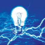 lightbulb in water